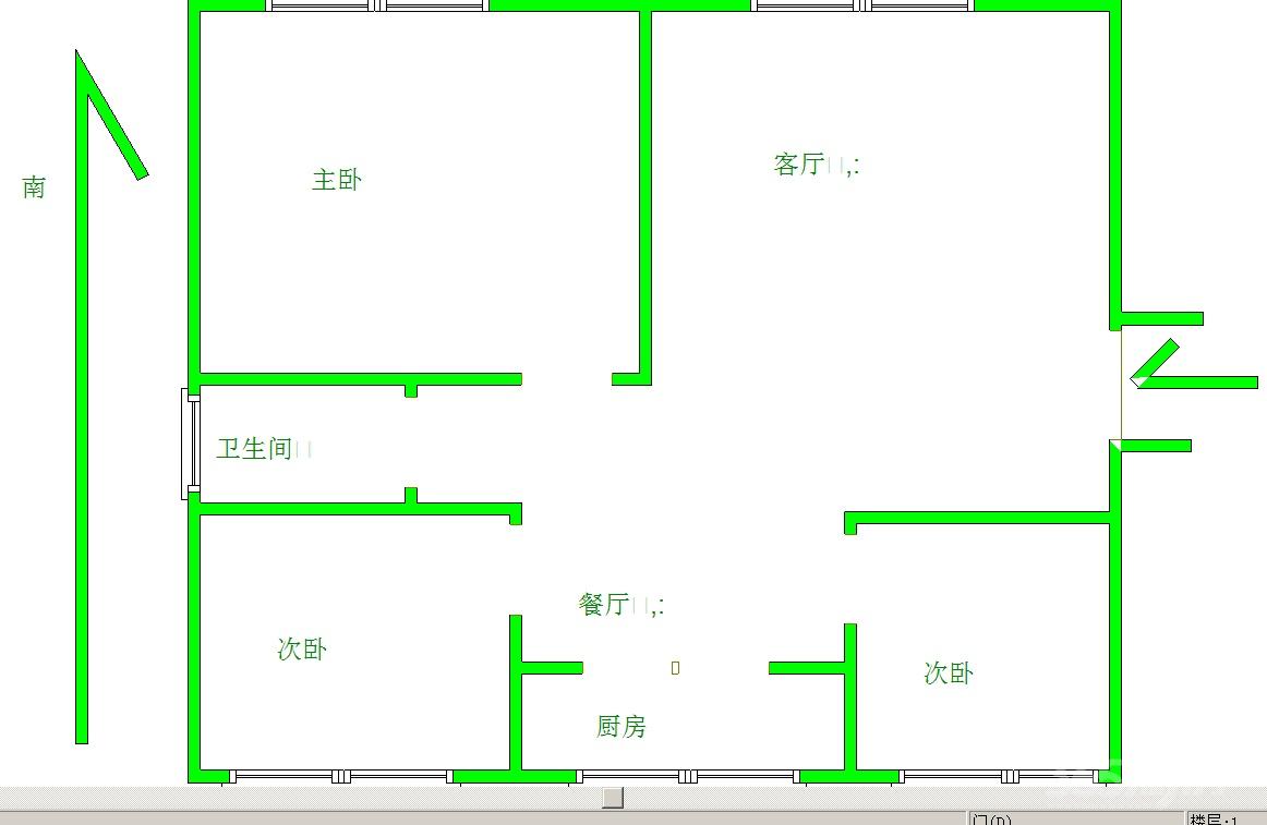 晓山北村2室1厅1卫87平米简装整租