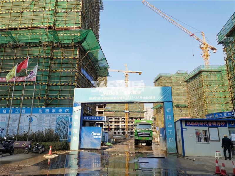 美的雍翠园南门施工工地实景图(11.26)