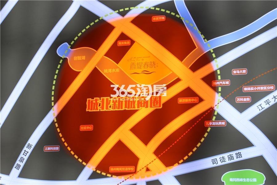 香堤春晓交通图