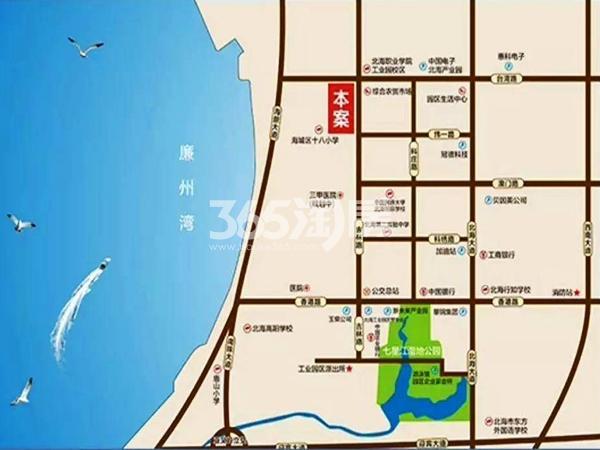 汇联海湾明珠二期交通图