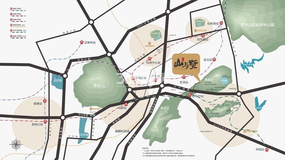 山与墅交通图