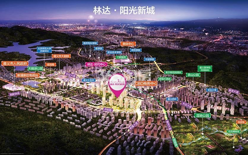 林达阳光新城交通图