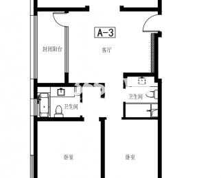 正荣润�o3室2厅2卫127平方精装