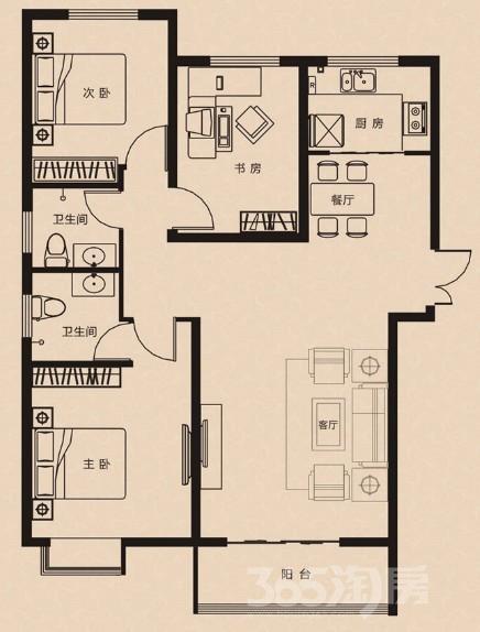 林溪湾3室2厅2卫117平米2010年产权房毛坯