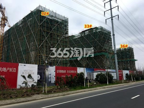 新力帝泊湾32#、33#、36#楼小高层工程进度实景(2018.3摄)