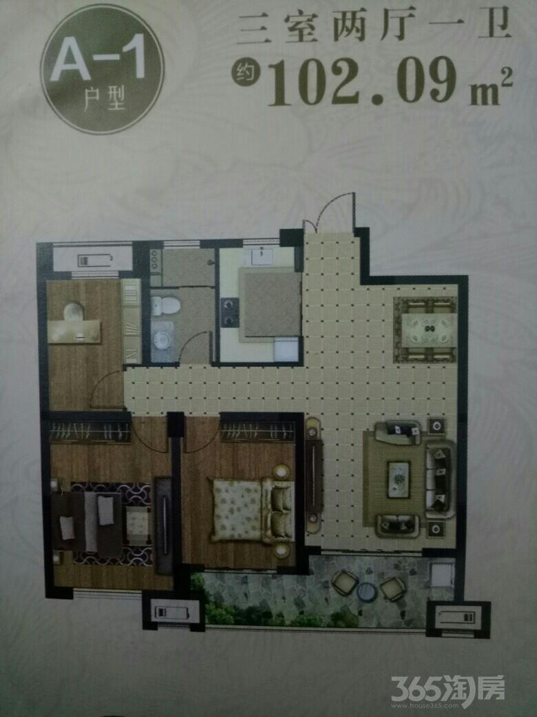 全椒时代花园3室2厅1卫102.2平米2017年产权房毛坯