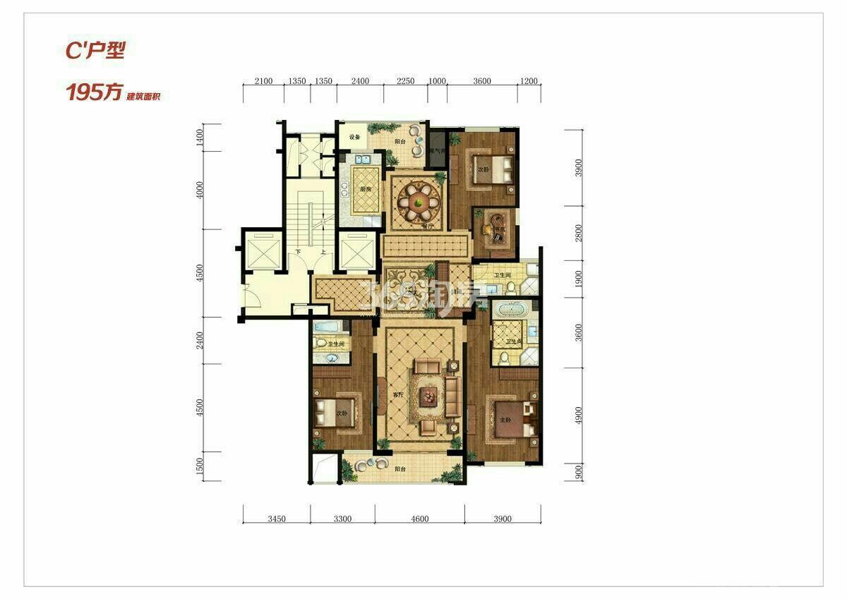 广厦天都城锦上豪庭4室2厅3卫193平米2017年产权房毛坯