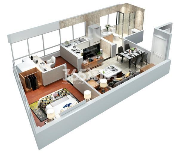 紫晶未来城·荣寓93㎡C1-1户型