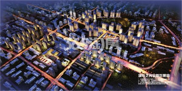 万科城市之光鸟瞰图