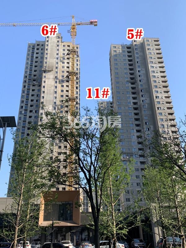 万科翡翠东方5#、6#、11#楼工程实景(2020.4.28摄)