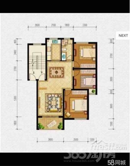 伟星蓝山3室2厅1卫98平米豪华装产权房2015年建满五年