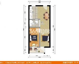 山水方舟1室1厅1卫41平米精装产权房2006年建