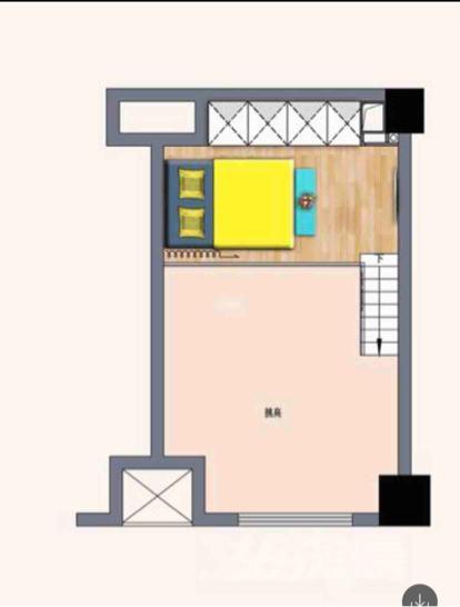 中南世纪雅苑37平米挑高双层精装全新小公寓