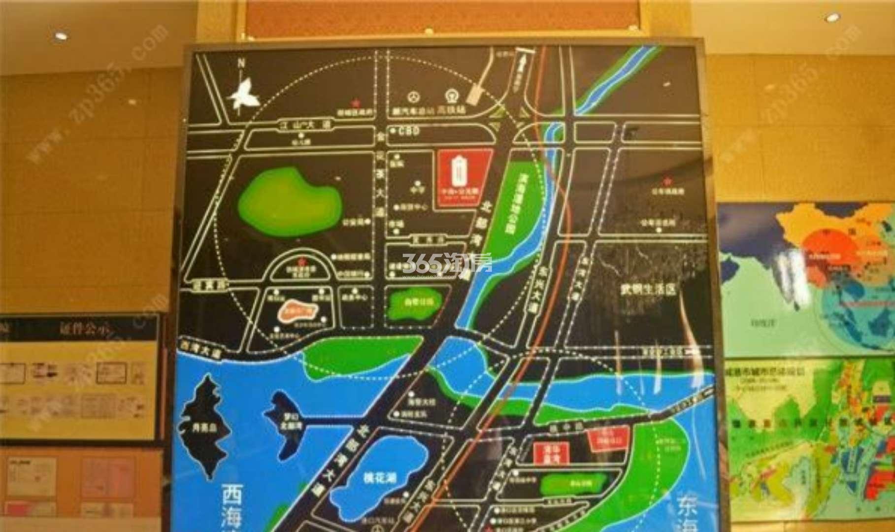 中南公元郡交通图