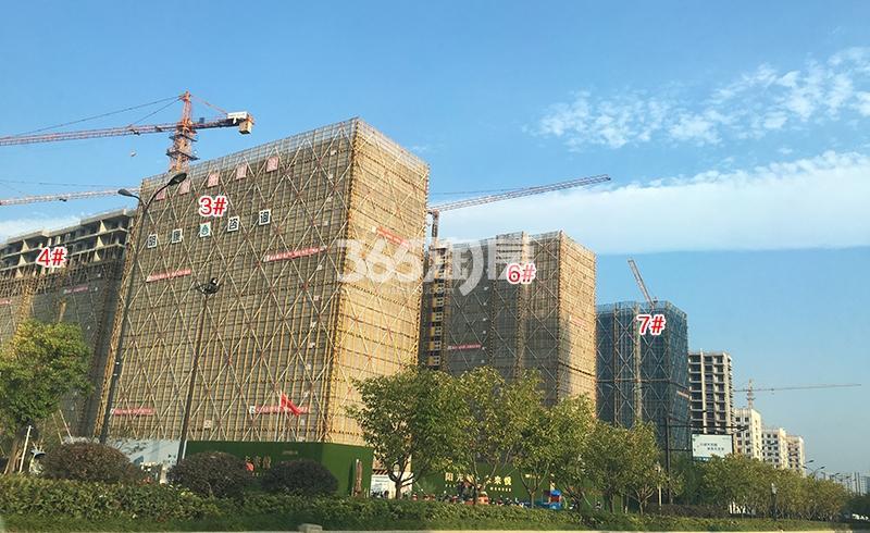 阳光城未来悦3、4、6、7号楼施工进程图(2018.9)