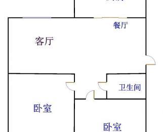 嘉城名居2楼、看房子方便、两室一厅、
