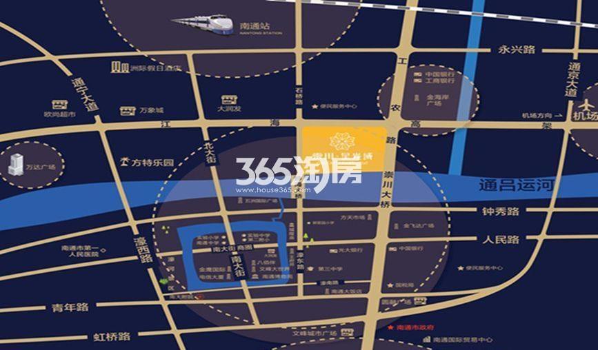崇川星光域交通图